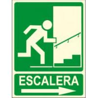 CARTEL FOTOLUMINISCENTE ESCALERA