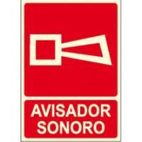 CARTEL FOTOLUMINISCENTE AVISADOR SONORO